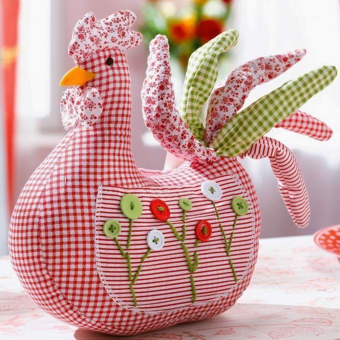 """Милые сердцу штучки: Пасхальный декор: """"Веселая курица"""" (+ выкройка)"""