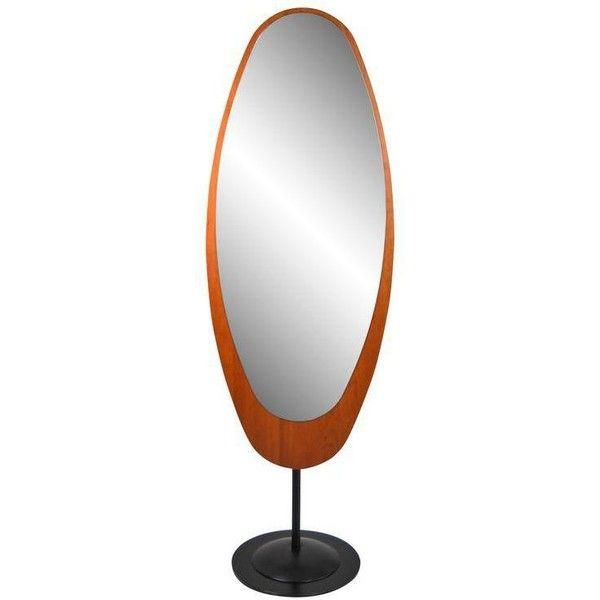 Mid-Century Italian Standing Floor Mirror (5.815 BRL) ❤ liked on ...
