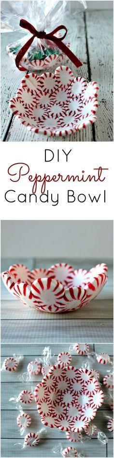 DIY del caramelo de hierbabuena Bowl - La perfecta (y más fácil) Regalo de Navidad DIY