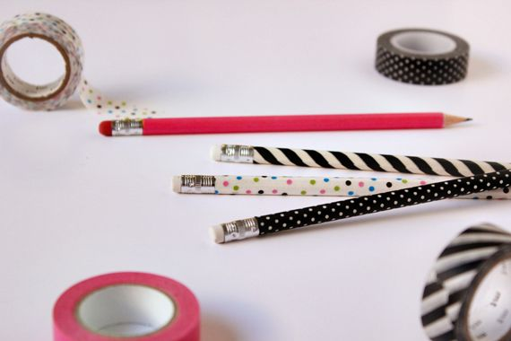 DIY Washi Tape Pencils | minted.com/julep