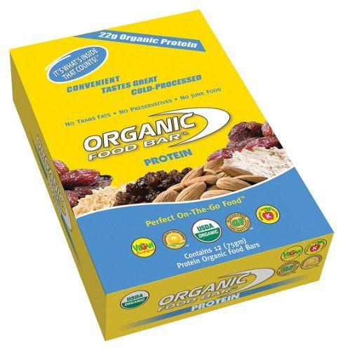 Organic Food Bar - Organic Food Bar Protein, 12 bars - http://goodvibeorganics.com/organic-food-bar-organic-food-bar-protein-12-bars/