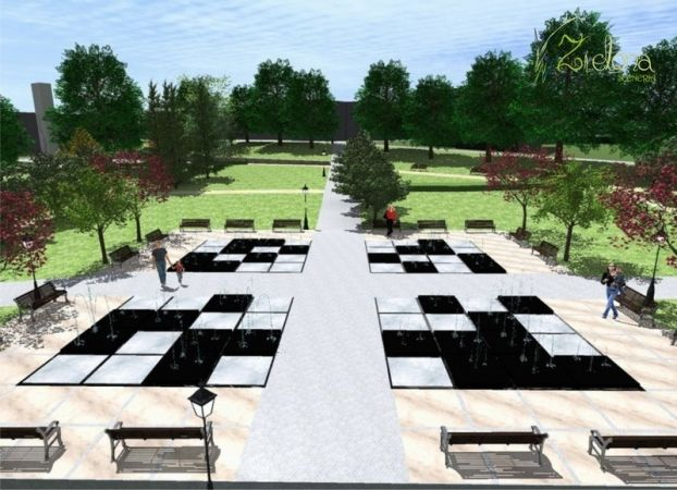 The conceptual design of the square 5-go Marca in Kamien Pomorski