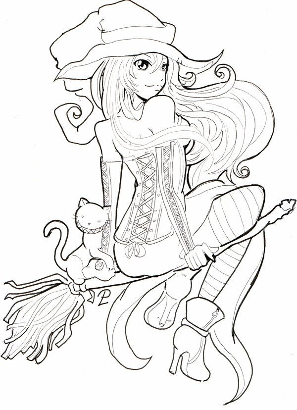 Coloring Pages For Halloween Witches : 26 best coloring pages halloween images on pinterest