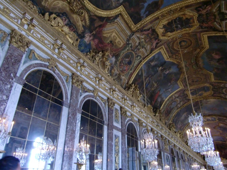 The Palace of Versailles in Versailles, France. This is the hall of mirrors. I visited on New Year's Eve. December 2011.