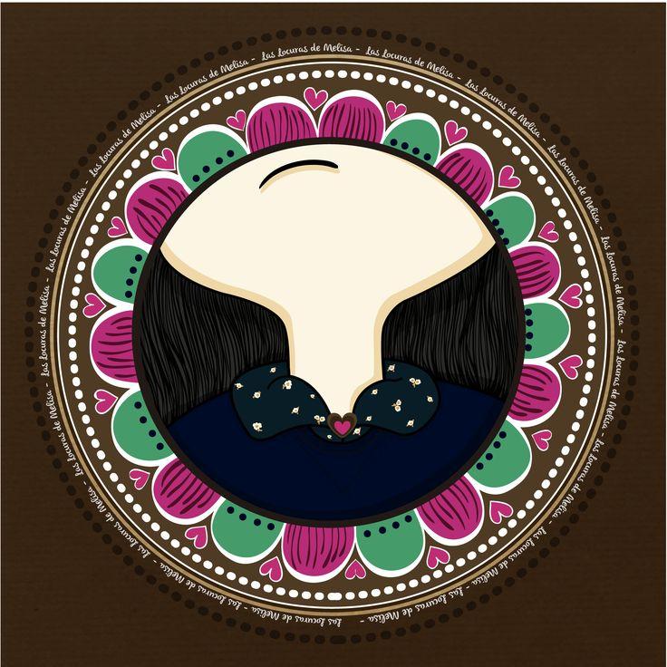 """""""el cuello de flores"""" Ilustración digital Melisa Amaya Ilustradora & diseñadora © Todos los Derechos Reservados"""