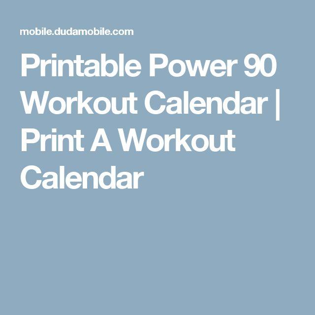 Printable Power 90 Workout Calendar | Print A Workout Calendar