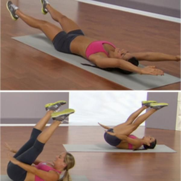 X-Abs - Slightly changing the angle of your arms and legs can make a huge difference in the intensity of your abs work. Try this 'X' shaped move to feel the extra burn!