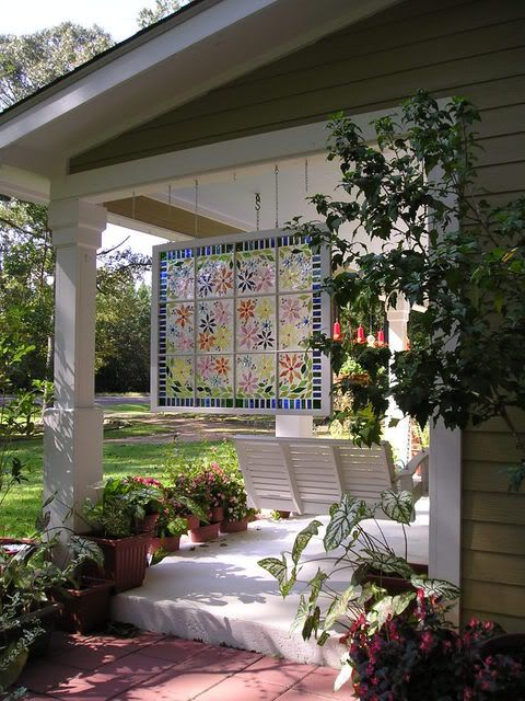 Mosaic Window made from old window