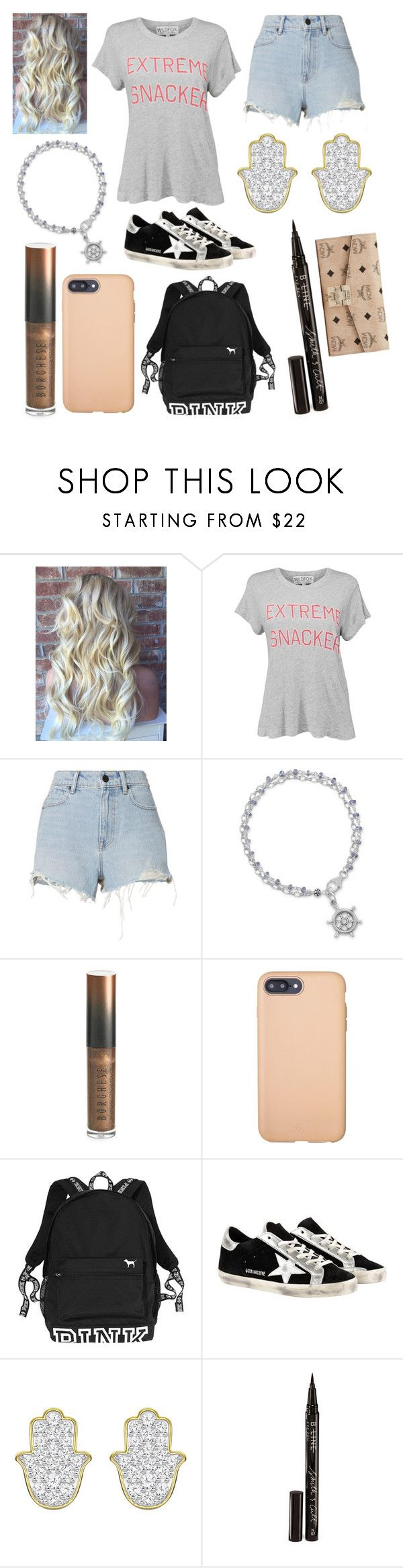 """""""Summer radio-broadcasting course"""" by hailey-smith-13 ❤ liked on Polyvore featuring Wildfox, Alexander Wang, Borghese, Sonix, Victoria's Secret PINK, Golden Goose, Smith & Cult and MCM"""
