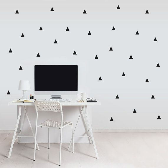 Triangle Wall decal / Wall Black Triangles Vinyl by MadeofSundays, €11.00