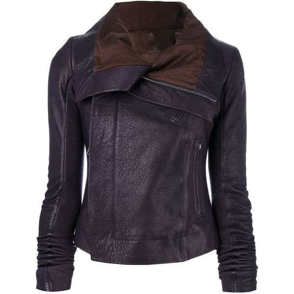 Rick Owens classic biker jacket ($2,250) ❤ liked on Polyvore featuring outerwear, jackets, biker jackets, motorcycle jacket, leather motorcycle jacket, blue moto jacket and blue motorcycle jacket