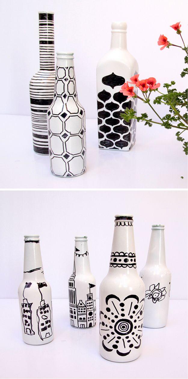 Beer Bottle Sharpie | Fun Beer Bottle Craft Ideas for Kids by DIY Ready at…                                                                                                                                                                                 Más