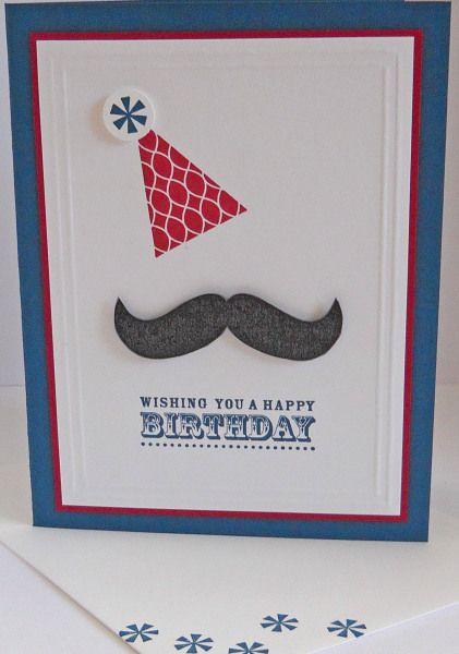 I'm loving the mustache set- gonna have to get it!  Check out this cute card by Heather Heroldt from Stampin Connection!