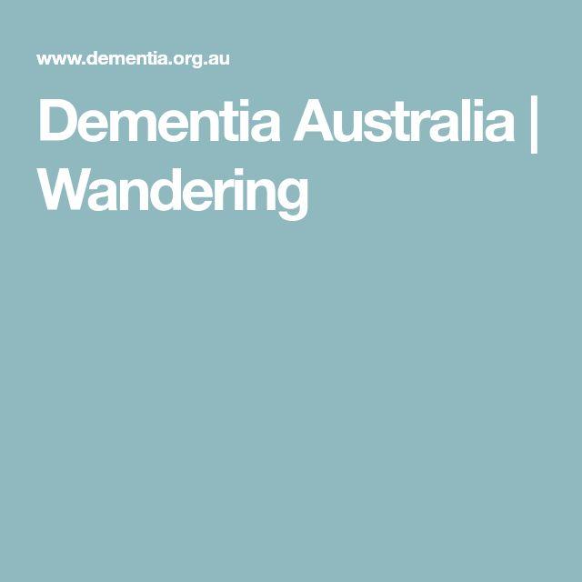 Dementia Australia | Wandering