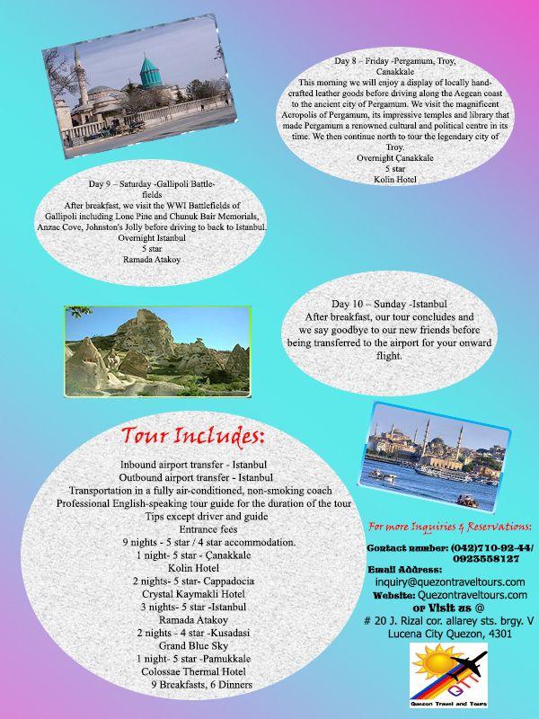 10 days Turkey Tour Package 2