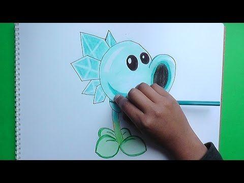 Dibujos para colorear Hielaguisantes Plantas VS Zombies