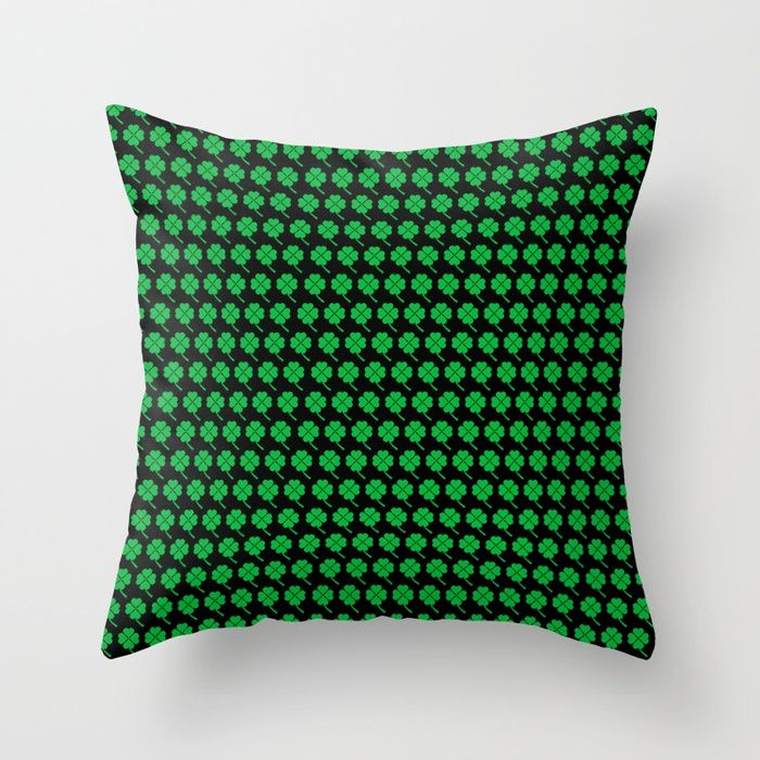 20% OFF Everything With Code: GETART20. Sale Ends Tonight.Saint Patrick's Day Throw Pillow by scardesign. #pillow #home #homegifts #homedecor #clovers #clover #pattern #design #art  #gifts #giftideas #39 #style #giftsforhim #giftsforher  #sales #sale #discount #deals #save #family #onlineshopping #shopping #cool #awesome #stpatrick #kissme #charms #luckycharms #stpatricksday #drink #parade #green #irish #ireland #paddy #paddysday #party #kissmeimirish #greenday #stpatrick