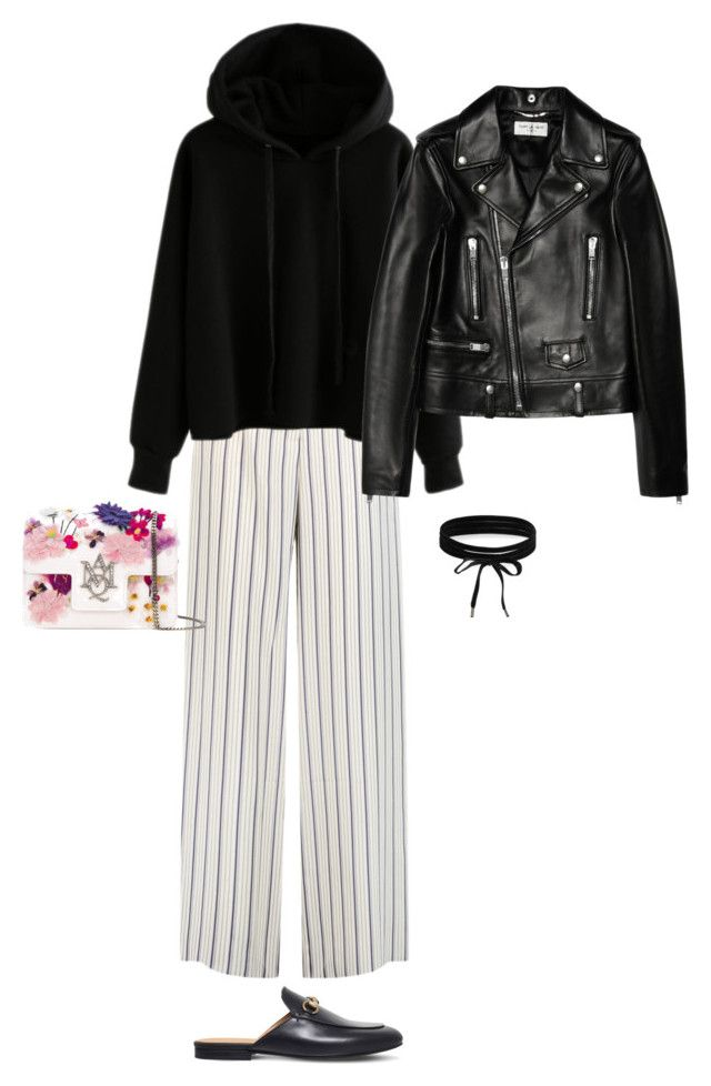"""""""Untitled #626"""" by szudi on Polyvore featuring Iris & Ink, Gucci, Alexander McQueen, Yves Saint Laurent and Boohoo"""