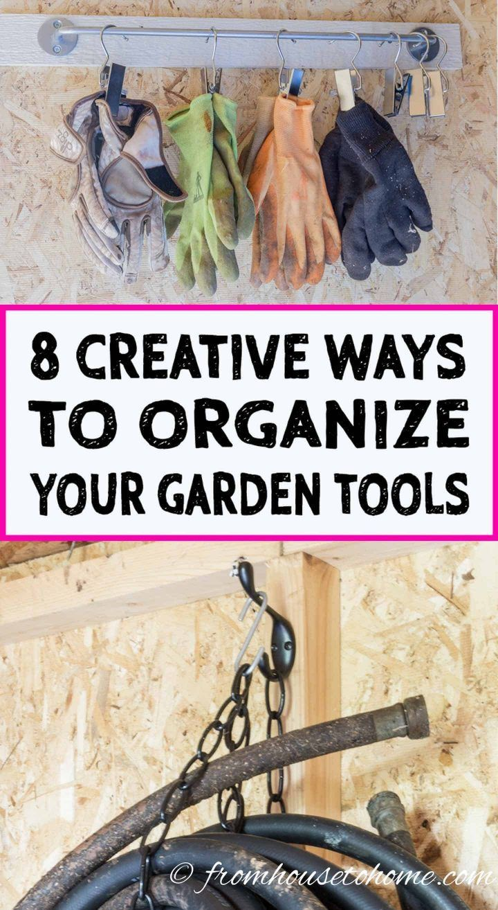 Shed Organization: 8 Easy and Inexpensive DIY Garden Tool Storage Ideas – Home Organization
