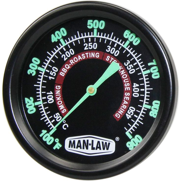 Man-Law MAN-T702BBQ Grill / Smoker BBQ Thermometer With Glow In The Dark Dial