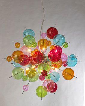 10 Lamp Multicoloured Chandelier by Febland