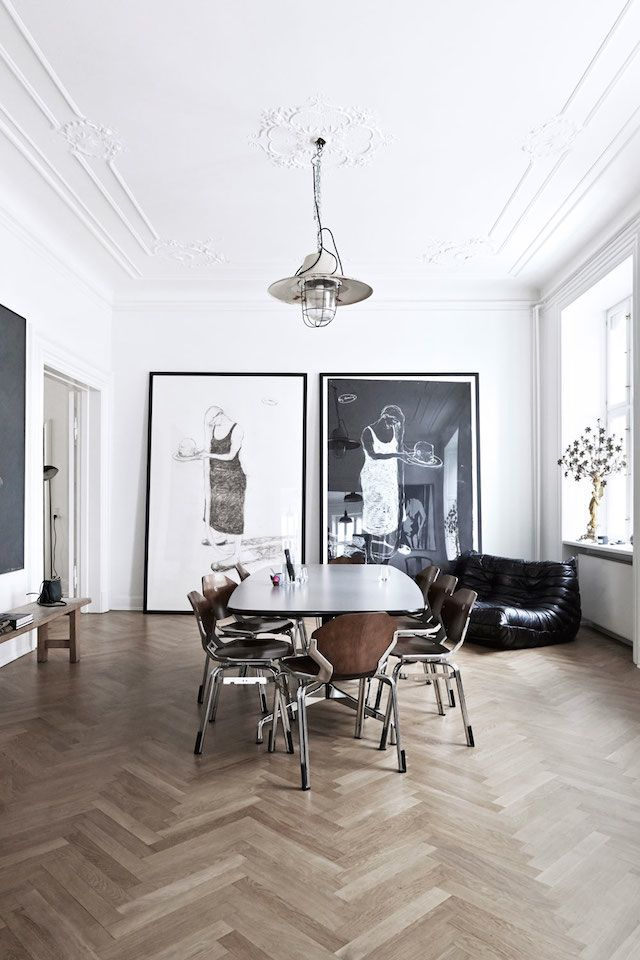 A fabulous Copenhagen apartment. Old HousesInterior StylingInterior  DecoratingDanish Interior DesignMonochrome ...