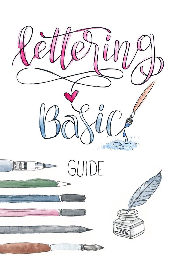 Mit diesemLettering Basic Guide mit praktischen Tipps und Tricks bekommst du einen umfassenden und hilfreichen Leitfaden für deinen erfolgreichen Lettering Einstieg an die Hand.