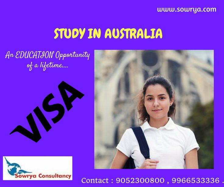Study in australia contact- sowrya consultancy www.sowrya.com