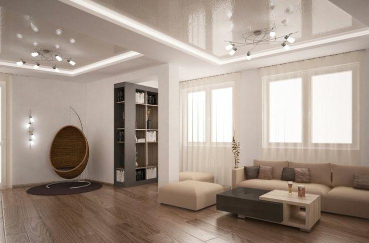 palette de couleur lin et salon design zen