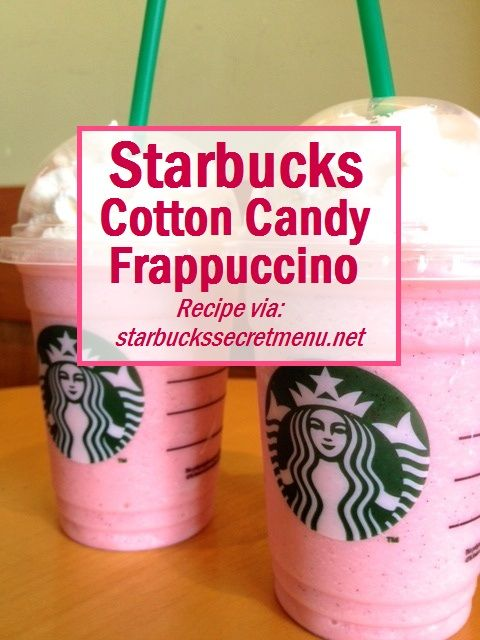 The popular Starbucks Cotton Candy Frappuccino!
