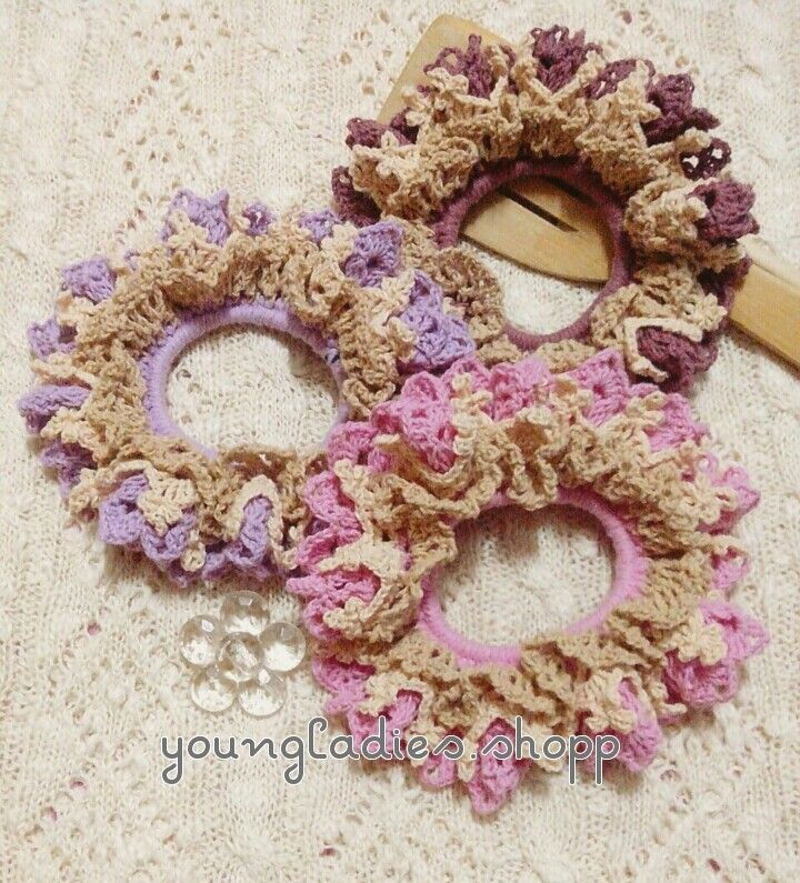 youngladieshome: Crochet Scrunchies 4