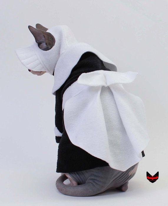 I wish I had a sphynx!! --- Pilgrim Girl Bonnet Cat Hat Sphynx Cat Clothes by SimplySphynx