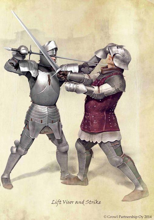 Medieval combat technic www.darksword-armory.com