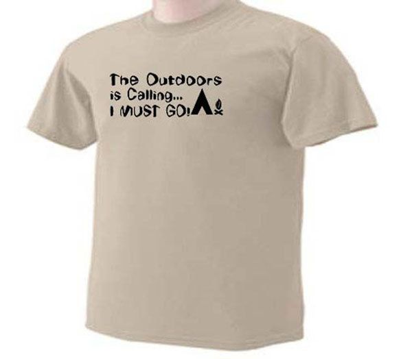 The Outdoors Is Calling I Must Go Camping RV Tent Campers T-Shirt by TeeDesignsbyVR on Etsy
