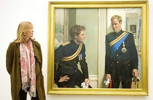 Royal portraits: Prince William and Prince Harry at the National Portrait gallery