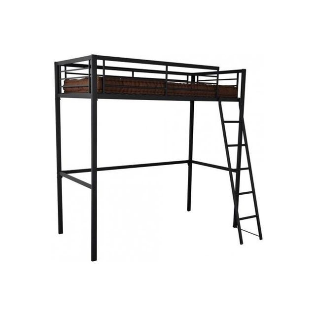 les 25 meilleures id es concernant lit mezzanine 90x190. Black Bedroom Furniture Sets. Home Design Ideas