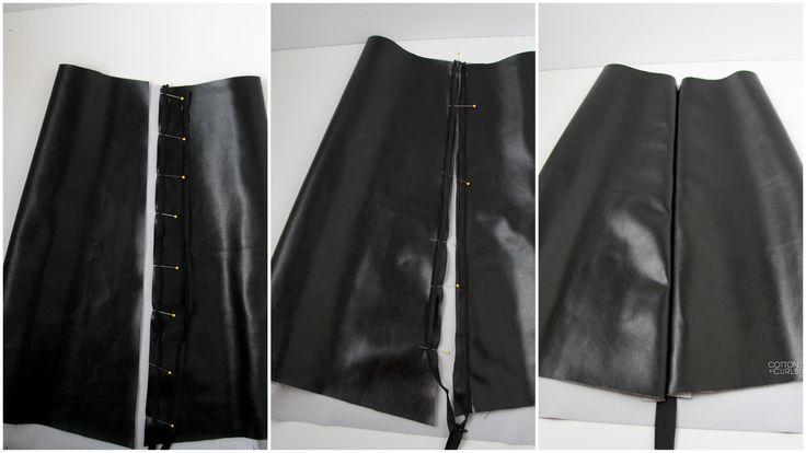 DIY leather A-line skirt