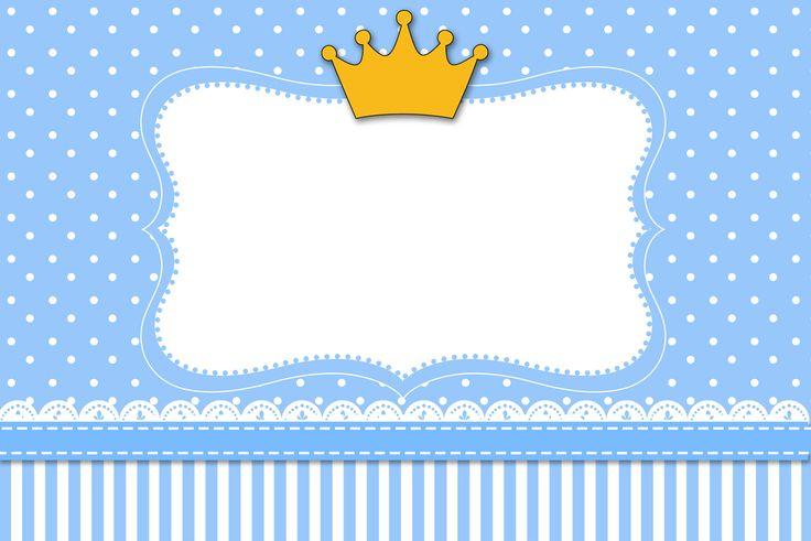 kit completo http://fazendoanossafesta.com.br/2013/10/coroa-principe-kit-completo-com-molduras-para-convites-rotulos-para-guloseimas-lembrancinhas-e-imagens.html/