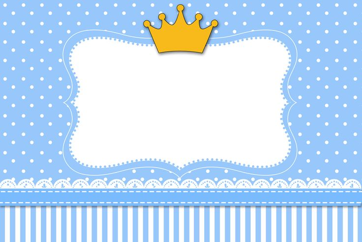 Coroa Príncipe - Kit Completo com molduras para convites, rótulos para…