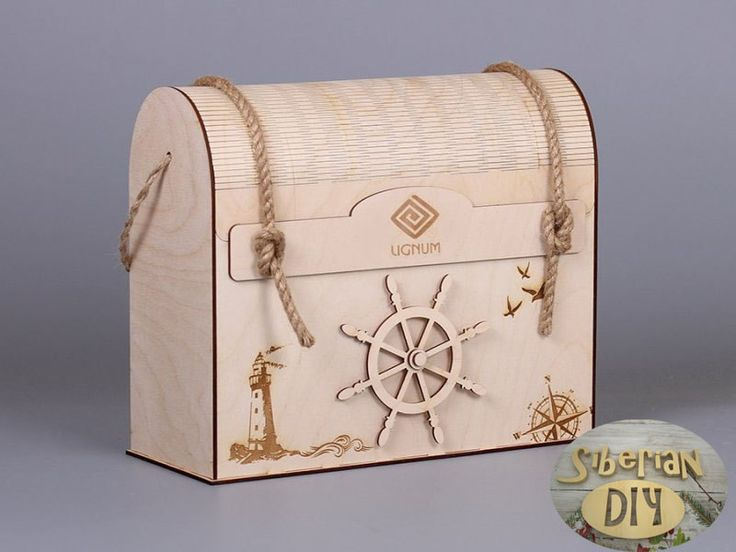 Box-chest for gifts on a marine theme by SiberianDIYcraftsArt on Etsy