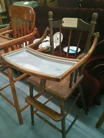 100 year old high chair! A fabulous antique item - $60
