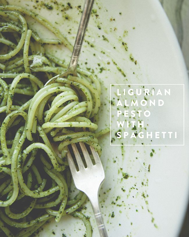 pesto spaghetti almond pesto noodles pasta pasta noodles food drinks ...