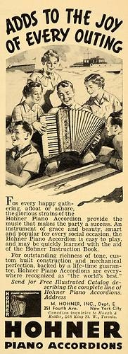1936 Ad Hohner Piano Accordions Catalog New York City Original Advertising   eBay