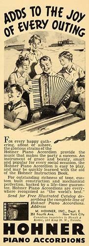 1936 Ad Hohner Piano Accordions Catalog New York City Original Advertising | eBay
