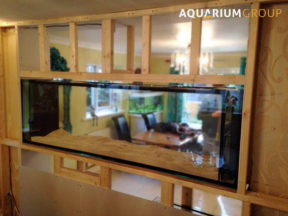 Blogspot category latest projects a custom built marine for Fish tank built into wall