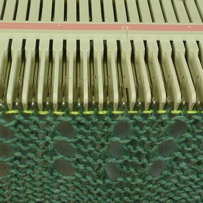 machine knitting tips