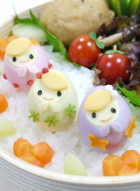 Matryoshka quail eggs