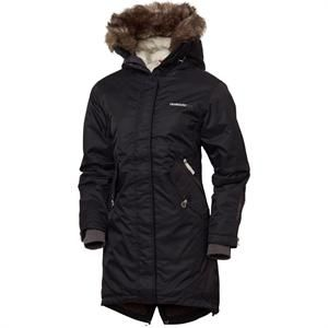 Damejakke sort Didriksons Womens Parka Coat model: Lindsey.