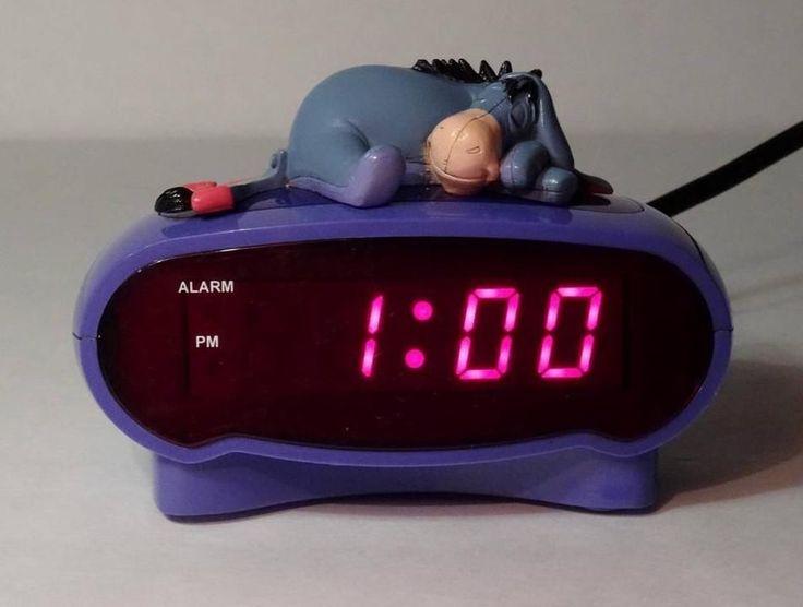 Disney's Sleepytime Eeyore Purple Digital Alarm Clock Winnie the Pooh