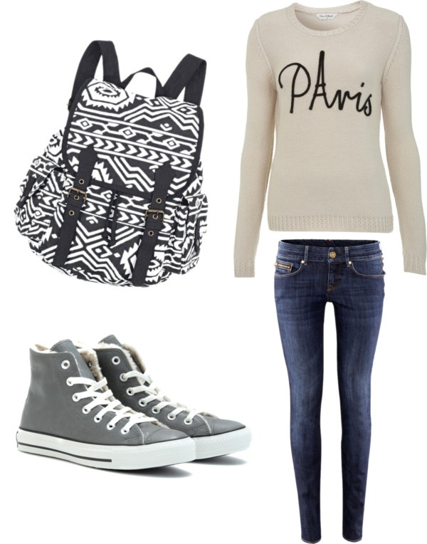 """Cosy school outfit"" by fashion-hipster ❤ liked on Polyvore"